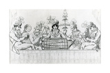 Padean Minstrels in Performance at Vauxhall Gardens, London Giclee Print