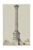 The Nelson Column, Trafalgar Square, from Mr Railton's Design Giclee Print