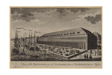 A View of the Exchange and the Warehouses at Petersburg in Russia Giclee Print