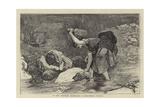 In the Western Highlands, a Connemara Washing Giclee Print