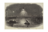 Balloon and Display of Fireworks, from Vauxhall Gardens Giclee Print