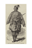 Malay Native of Borneo, Sketched at Singapore Giclee Print