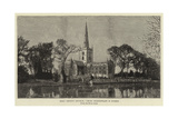 Holy Trinity Church, Where Shakespeare Is Buried Giclee Print