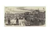 Inauguration of the Paris and Nantes Railway, at Nantes - Giclee Baskı