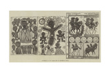 Facsimile of Two Pages of an Abyssinian Bible Giclée-tryk