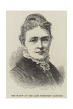 The Widow of the Late President Garfield Giclee Print