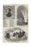 Celebration of Prince Albert's Birthday Giclee Print