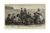 A Japanese Picnic on the Seashore Giclee Print