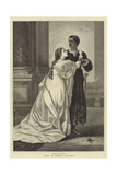 Othello and Desdemona, after Herrick Giclee Print