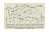 Map of Venezuela and British Guiana Giclee Print