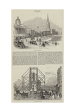 Sketches of Trafalgar Square Giclee Print
