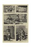 Silk Manufacture in the Lebanon Giclee Print