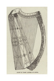 Harp of Mary Queen of Scots Giclee Print