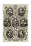 Portraits of Shakespeare Giclee Print