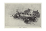 Barges on the Medway Giclee Print