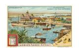 Entrance to the Suez Canal, Port Said, Egypt Giclée-Druck