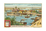 Entrance to the Suez Canal, Port Said, Egypt Giclee Print