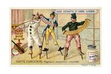 Caffe-Concerto: Eccentric Musical Clowns Giclee Print