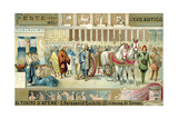 Performance of Aeschylus' Play the Persians in the Theatre of Athens Giclee Print