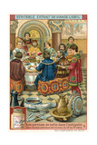 Dinner in Central and Southern Europe, 10th-13th Century Giclee Print