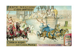 Chariot Race in the Circus, Rome Giclee Print