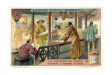 Buying and Selling Paper in Samarkand, Turkestan Giclée-tryk