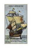 Caravel of Christopher Columbus, 15th Century Lámina giclée