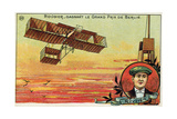 French Aviator Henri Rougier Winning the Grand Prix of Berlin, 1909 Giclee Print