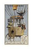 Balloon Ascent to 10,000 Metres by Glaisher and Coxwell, 1862 Giclee Print