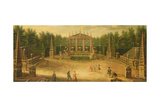 The Water Alley and the Dragon Fountain, Versailles Giclee Print