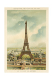 Eiffel Tower, Exposition Universelle 1889, Paris Stampa giclée