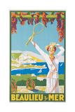 Advertising Poster for Beaulieu-Sur-Mer, C.1925 Reproduction procédé giclée