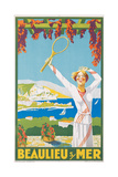 Advertising Poster for Beaulieu-Sur-Mer, C.1925 Giclee Print