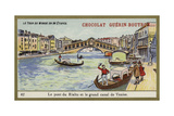 The Rialto Bridge and the Grand Canal of Venice Giclee Print