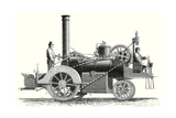 Traction Engine or Steam Car Invented by M. Lotz from Nantes - Giclee Baskı
