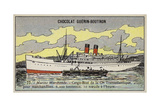 French Cargo Ship of the Compagnie Transatlantique Giclee Print