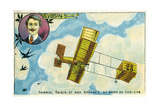 Gabriel Voisin and His Aircraft at the Camp De Chalons, France Giclee Print