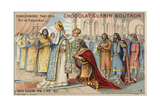 Coronation of Charlemagne as Emperor, 800 Giclee Print