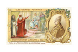 The Excommunication of Philip IV of France by Pope Boniface VIII, 1303 Giclee Print