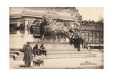 Dogs at the Base of the Statue in Place De La République, Paris, 1905 Giclee Print