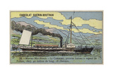 Clermont, the First Successful Steamboat, Built by Robert Fulton, 1807 Giclee Print