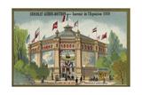 Pavilion of the Compagnie Generale Transatlantique Giclee Print