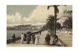 Cannes, La Promenade De La Croisette Giclee Print