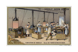 Chocolate Manufacturing, Cocoa Roasting Room Giclee Print