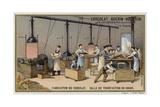 Chocolate Manufacturing, Cocoa Roasting Room Giclee Print