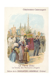 Corpus Christi Procession of the Fishermen of Angers, France Giclee Print