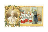 Pope Pius X Teaching Plainsong When Bishop of Mantua, 19th Century Giclee Print