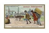 Embarkation for England on the Quay at Boulogne Giclee Print