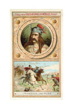 Merovech, King of the Salian Franks, and the Invasion of the Huns, 451 Giclee Print