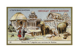 In Front of the Seven Temples in the Area of Madras Giclee Print